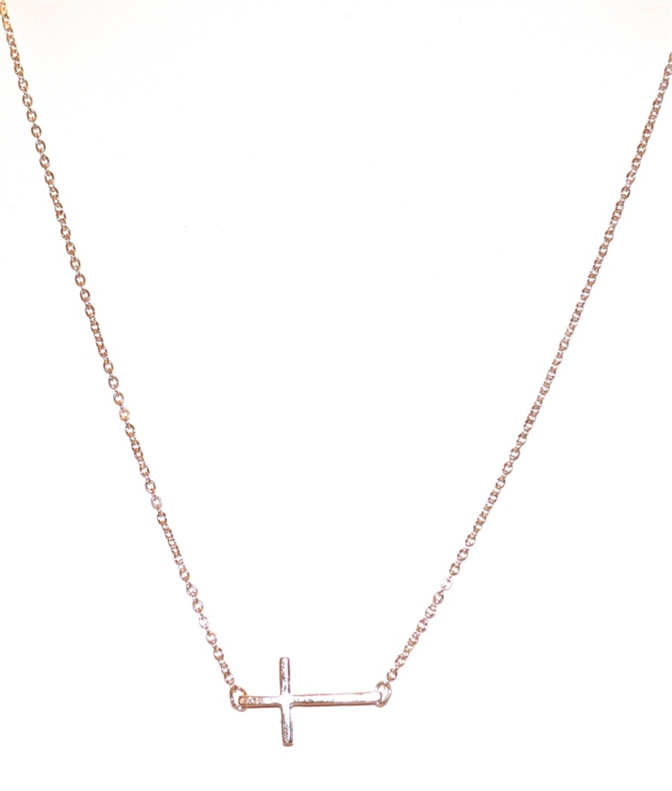Side Cross Necklace #CandiedThreads
