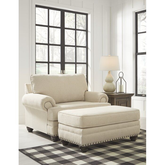 Pinnix Chair And A Half Ashley Furniture Living Room Chair And