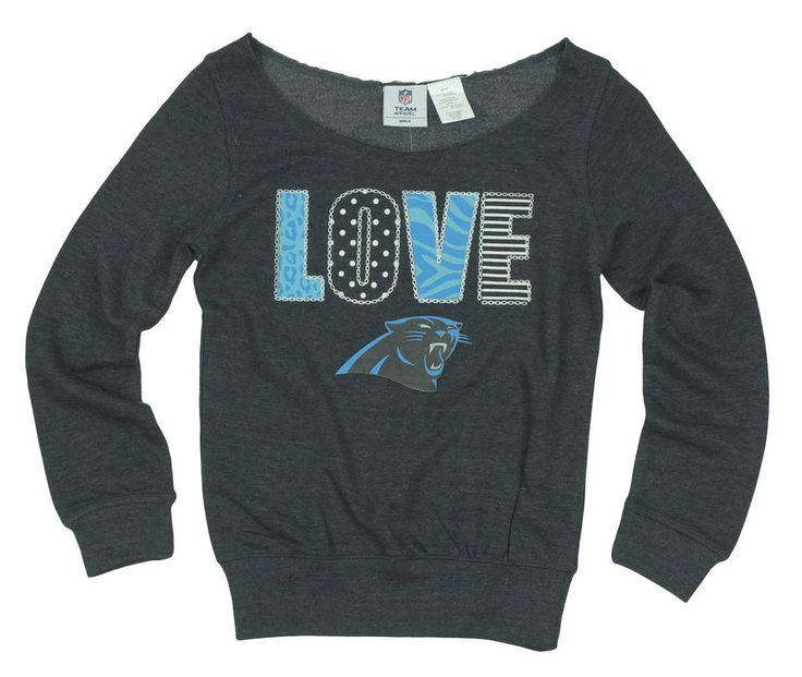 "Girls NFL Carolina Panthers ""Love"" Sweatshirt BNWT Sz 10/12 NFL Team Apparel!! #NFL #FootballEveryday"