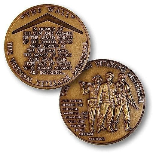 Vietnam Veterans Memorial National Monument Challenge Coin