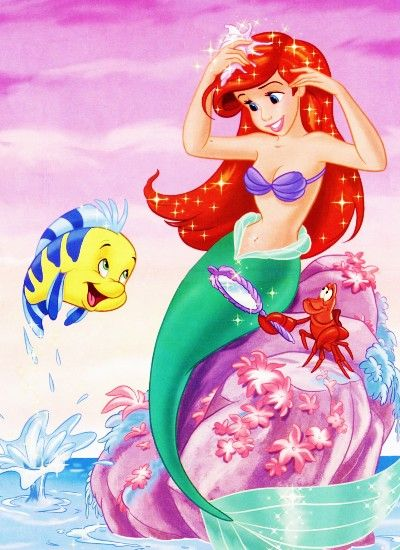 I love Ariel she is my all time favorite princess and the most beautiful princess I love that hair !