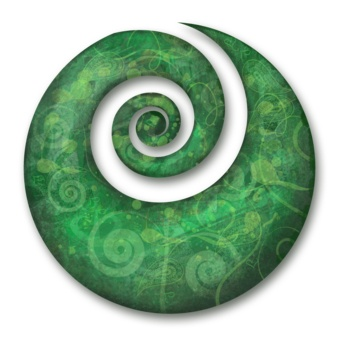 "symbol KORU is the Maori word for ""bight"" or ""loop"" and refers to the new shoots of the silver fern, The spiral shaped koru is derived from an unfolding silver fern frond. The circular movements towards an inner coil refers to 'going back to the beginning'. The unfurling frond itself is symbolic for new life, hope, perfection, rebirth, a new start, awakening, personal growth, purity, nuturing, a new phase in life, the spirit of rejuvenation and peace."