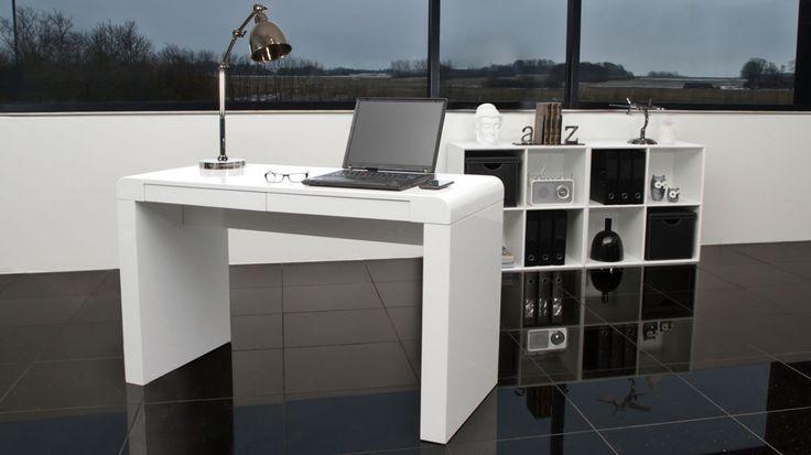 Contemporary White Gloss Desk