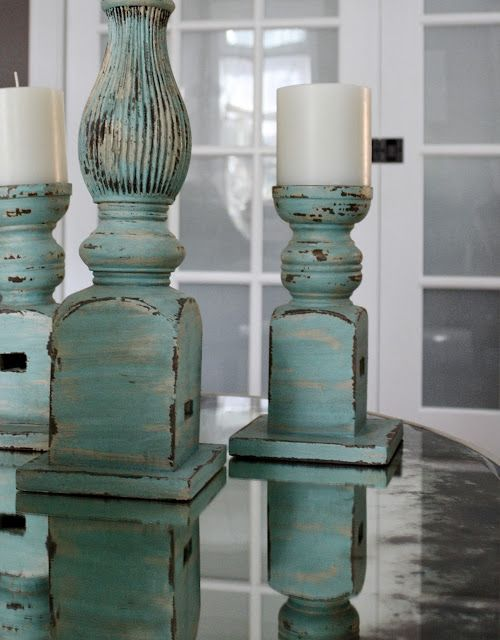 The Yellow Cape Cod: How To Match a Potterybarn Distressed Finish  Candlesticks for the mantle