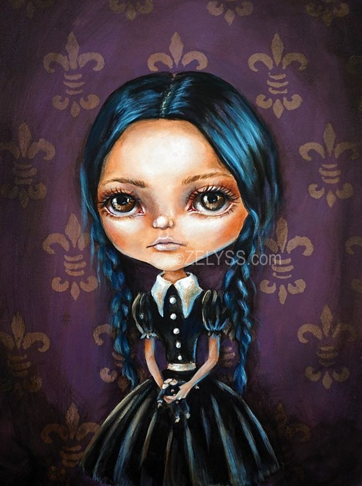 Image of ZELYSS PRINTS: 'WEDNESDAY ADDAMS' (Limited edition of 20)