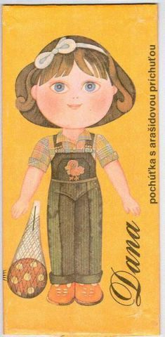 čokoláda s panenkou k vystřižení
