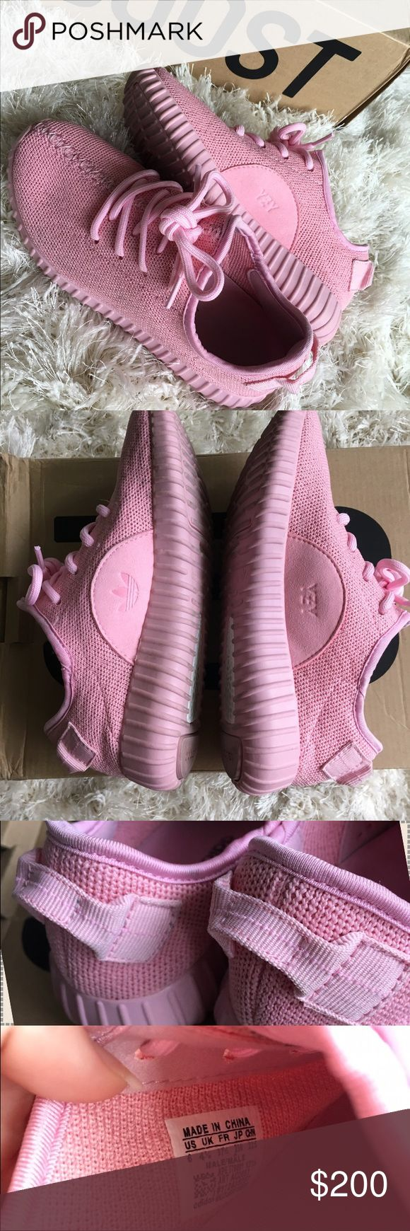 Pink Yeezy Boost 350's A little worn but still in great condition. Yeezys didn't drop in pink  Box not included. Size 6 but fit a little large. Comfiest shoes I've even worn hands down  Adidas Shoes Athletic Shoes