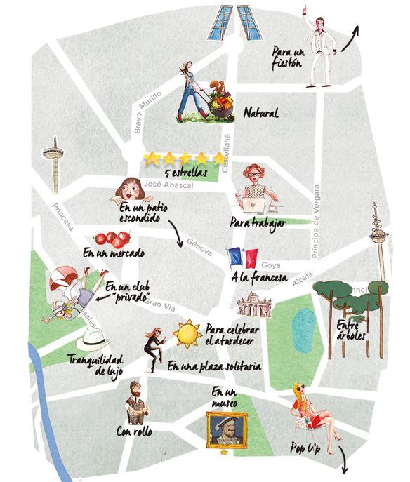 Nuevo mapa de las mejores terrazas de Madrid