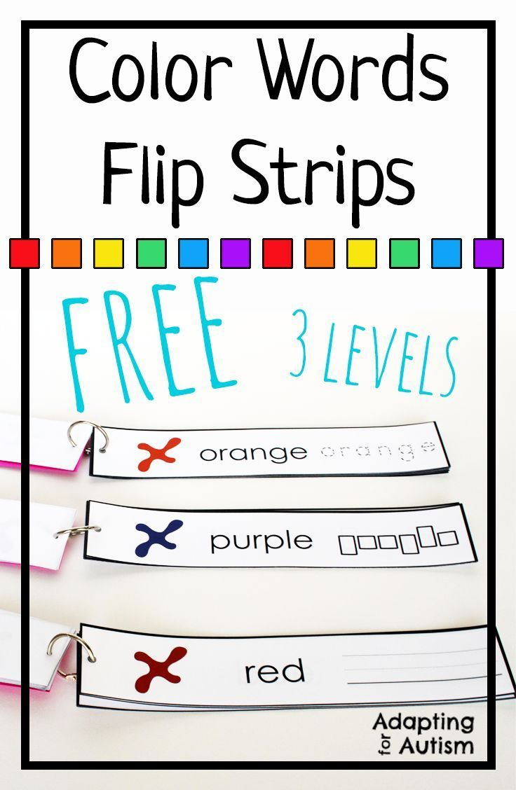 best images about autism work tasks teacch tasks word work activity these color words flip strips are a great independent work task