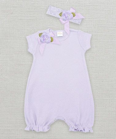 Love this Violet & Hyacinth Floral Bubble Romper & Headband - Infant on #zulily! #zulilyfinds