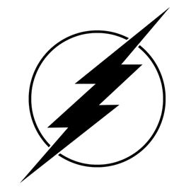 The Flash Symbol Stencil