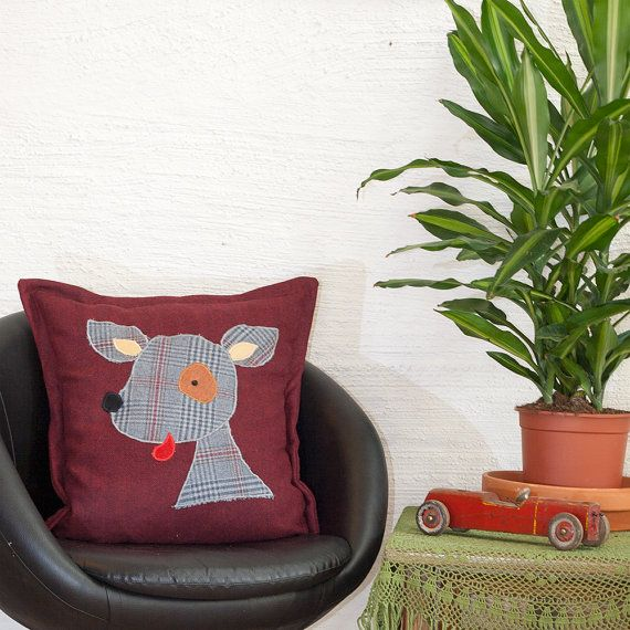 Dog #Pillow Case, #Cushion Cover, Kawaii design, Quality Crafts, Throw Pillow, Decorative Pillow, Handmade in Norway