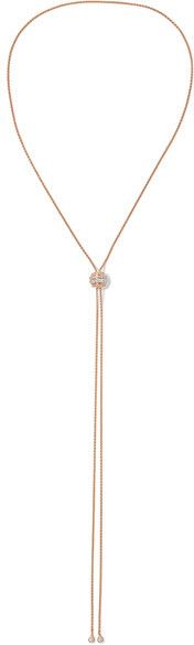 Piaget - Possession 18-karat Rose Gold Diamond Necklace