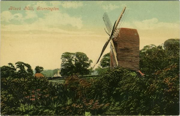 Black Mill, Storrington c 1906 A typical Sussex post mill. WPAC-WIN-01023_141.jpg (600×386)