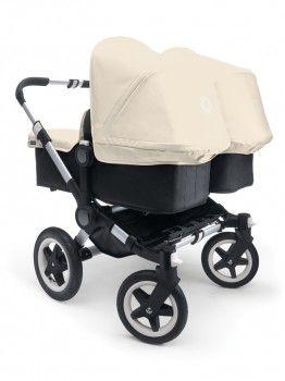 Bugaboo Donkey Twin Aluminium Chassis - black/offwhite