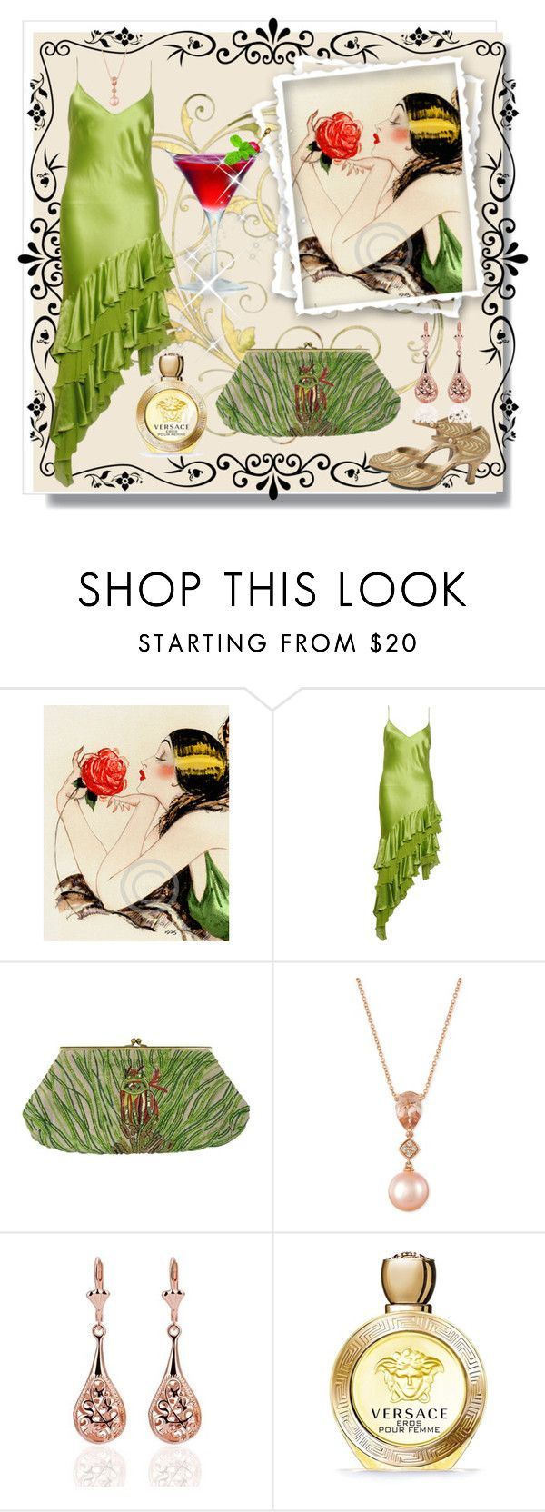 """""""Golden times"""" by natalyapril1976 on Polyvore featuring Iceberg, LE VIAN, Versace, vintage, retro and artdeco"""
