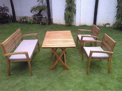 58 best images about salon de jardin on pinterest taupe - Table jardin acacia ...
