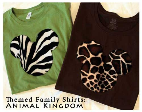 How-To Make Themed Custom Family Shirts: Disney Animal Kingdom. Easy DIY, templates included! Click through to see just how easy it is!