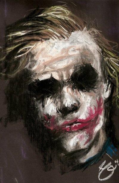Love this painting of Ledger's Joker!
