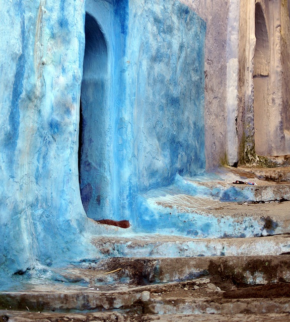 Best Blue Town Images On Pinterest Morocco Blue Doors And - Old town morocco entirely blue