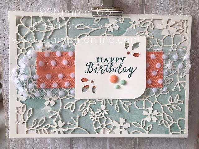 2018-2019 Stampin' Up! Delightfully Detailed, Graceful Glass, Nature's Poem, Share What You Love handmade cards