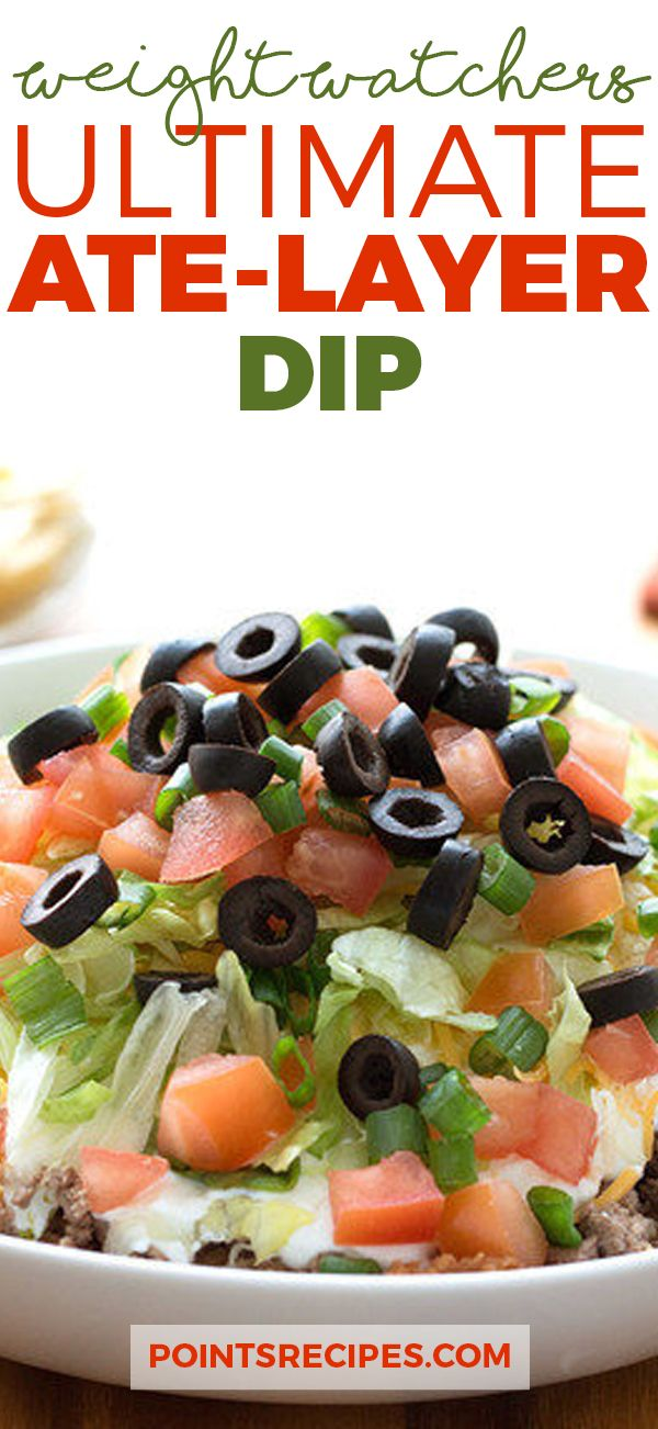 Ultimate Ate-Layer Dip (Weight Watchers SmartPoints)