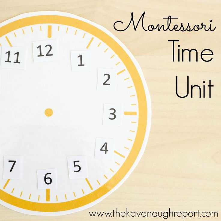 The Kavanaugh Report: Montessori Inspired Time Theme
