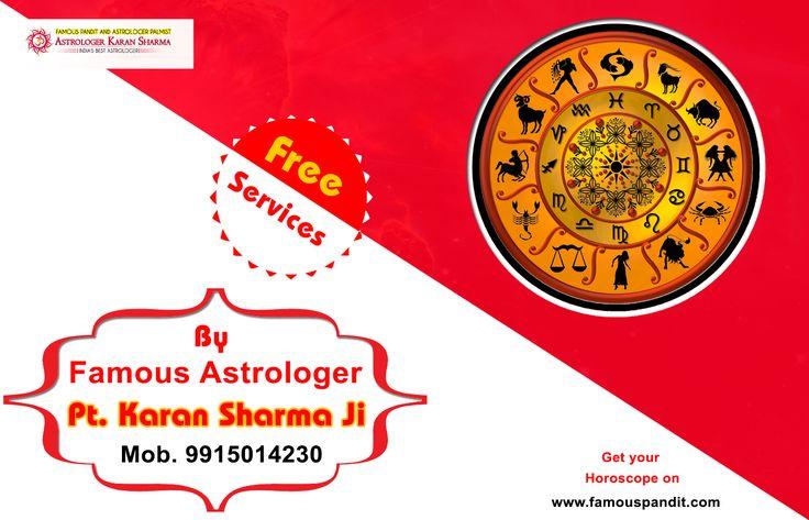 Get free Horoscope service by famous astrologer Pt. Karan Sharma ji. For more visit http://www.famouspandit.com/