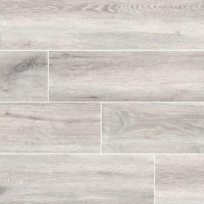 Alyssandra White Maple Wood Look Tile Floor Tiles