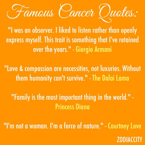 Beautiful Zodiac Cancer Quotes(mom) Good Looking