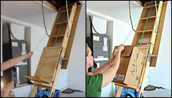Diy Hidden Bookcase Door Your Projects Obn In 2020 Attic Storage Attic Renovation Attic Remodel
