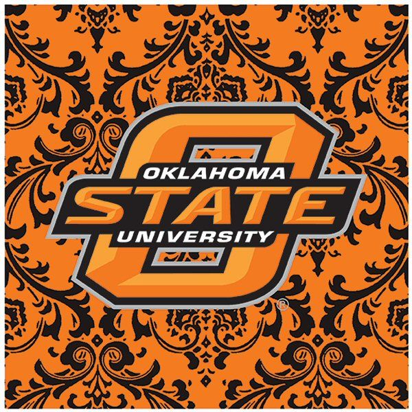Oklahoma State University Cowboys Pattern Ceramic Trivets, Set of 2