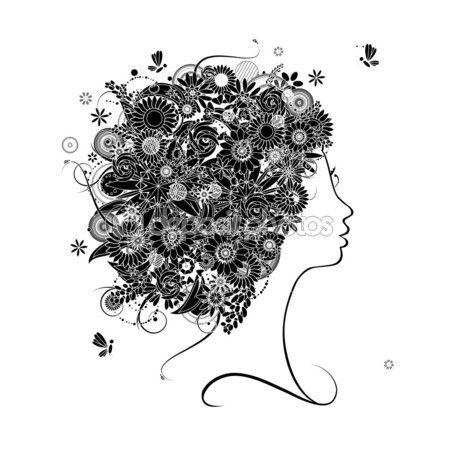 vektörel kadın yüzü - Google'da Ara