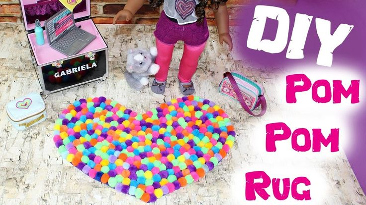 Pom Pom Rug | DIY American Girl Doll Pom Pom Rug Crafts