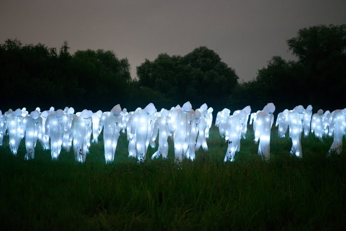 Glowing Scarecrows