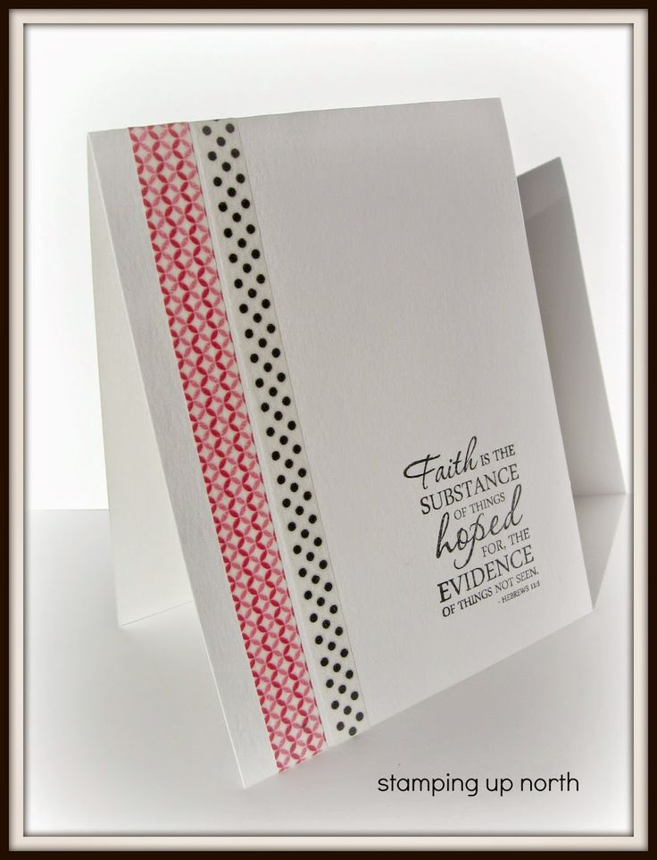 stamping up north...washi tape cards