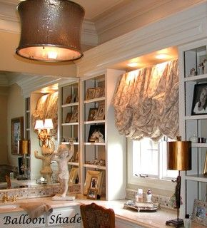 Ballon shades - eclectic - window treatments - other metro - by The Interiors Workroom, Inc