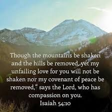 Isaiah 54:10 mountain depart