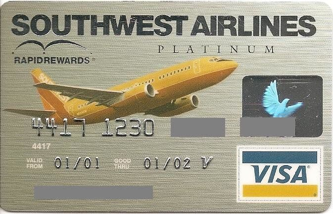 First USA Bank Southwest Airlines Platinum (First USA Bank, United States of America) Col:US-VI-0329