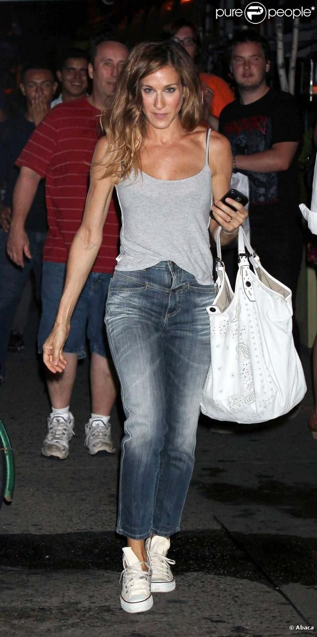 "You just can't not love her: ""Sex and the city"" star Sarah Jessica Parker - wearing Closed jeans!"