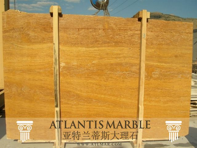 Turkish Marble Block & Slab Export / TRAVERTINE GOLDEN Marble   http://www.atlmar.com/product/210-turkish-marble-travertine-golden-slab.html