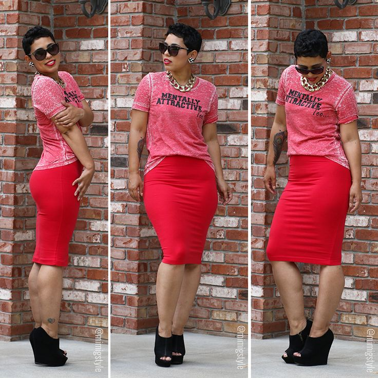 #DIY Pencil Skirt + Mentally Attractive Tee! - Mimi G Style