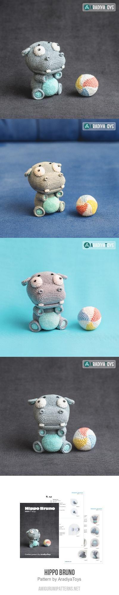 Hippo Bruno amigurumi pattern