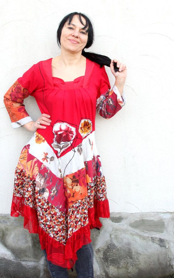 Romantic floral recycled dress tunic.