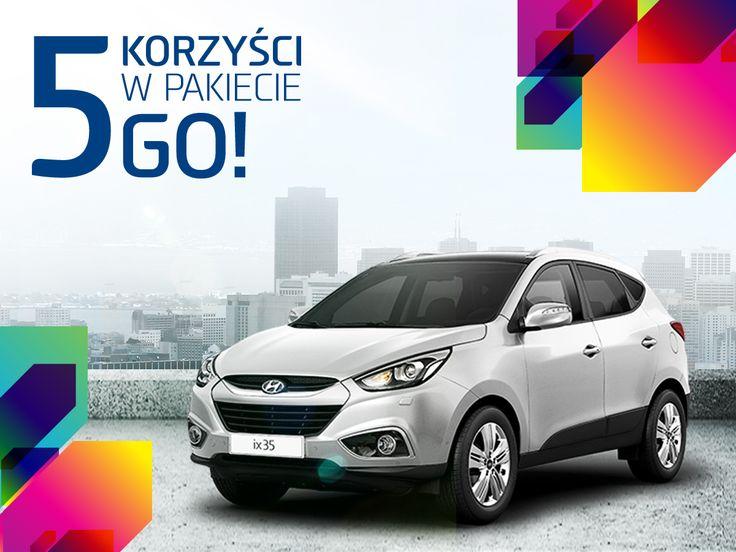 ix35 (rocznik 2014, SUV) Cena z upustem od 71.900,00 PLN    Teraz z Pakietem Korzyści GO!: - Wyposażenie specjalne (stacja multimedialna z nawigacją + tapicerka skórzana / Alcantara) o wartości 10 600 zł w cenie 3 500 zł - Upust do 7 500 zł - Ubezpieczenie w cenie 0,5% wartości samochodu - Atrakcyjne finansowanie Hyundai Finance - 5 lat gwarancji bez limitu kilometrów