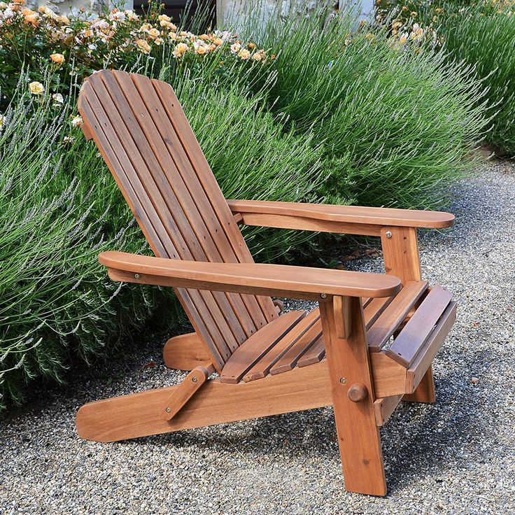 AmazonSmile : Plant Theatre Adirondack Folding Hardwood Chair - Superb Quality : Patio, Lawn & Garden