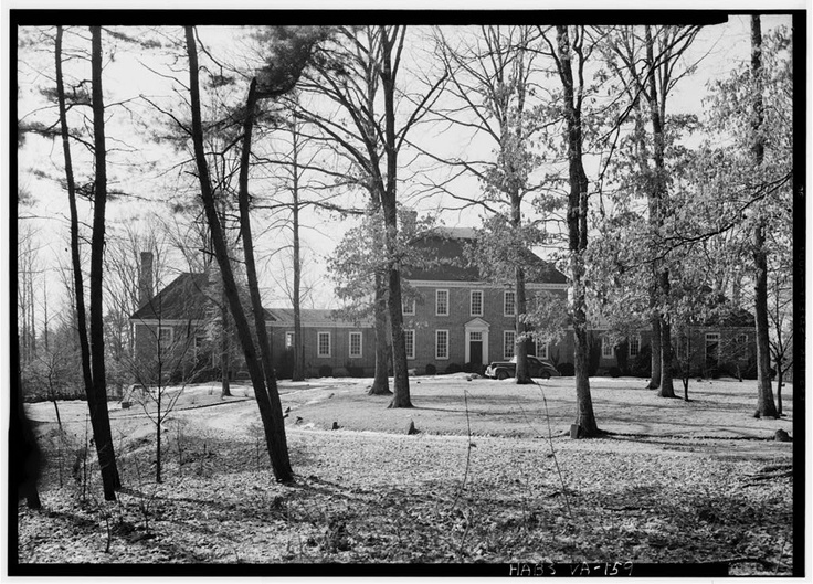 Ampthill Plantation, built by Henry Cary about 1730  http://www.loc.gov/pictures/item/va0320.photos.160696p/  It was located in the Virginia Colony in Chesterfield County and later owned by Colonel Archibald Cary, who owned a flour mill  & iron forge at nearby town of Warwick. In 1929, it was dismantled & moved and reassembled at 211 Ampthill Road in Richmond, Virginia  http://en.wikipedia.org/wiki/Ampthill_(Chesterfield_County,_Virginia)