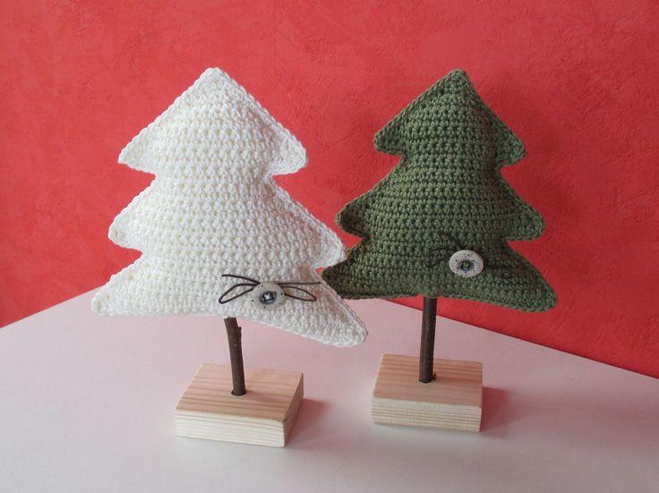 gehaakte kerstbomen