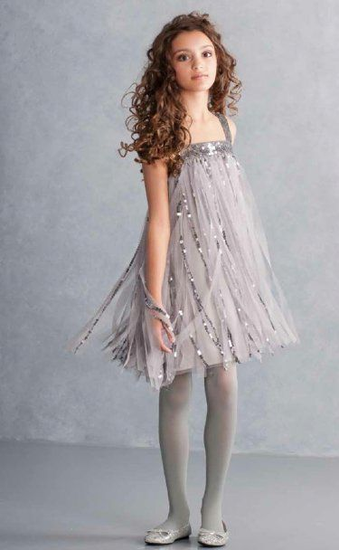 Tween Silver Sparkle Shift Dress  7 to 16 Years at Cassie's Closet. www.cassiesclosetinc.com