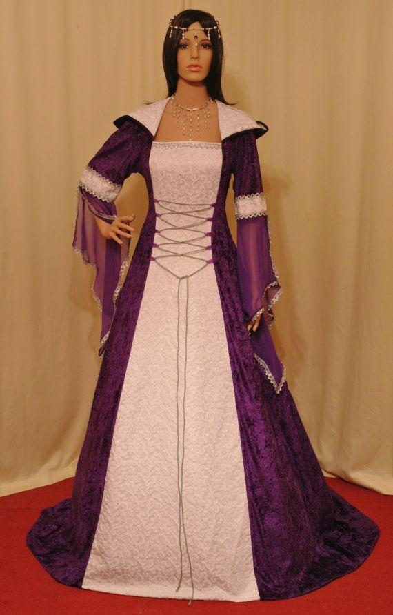 robe de mariée médiévale robe de mariage robe par camelotcostumes